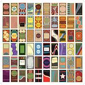 60 Vintage Retro Vector Business Cards