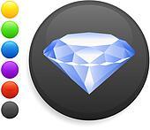 diamond icon on round internet button