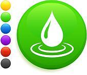 rain drop icon on round internet button
