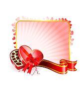 Dark Chocolate box Valentine\'s Day design background