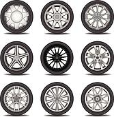 Racing Tire Clipart tires clip art - royalty free - gograph