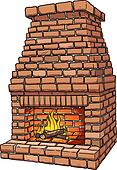 Brick fire place