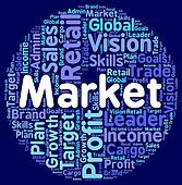 Market Word Indicates Marketplace Fair And Text