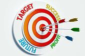 Target, success, profit, future