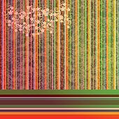 Grunge background with stripes and foliaje