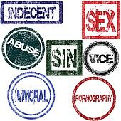 Stamps with sexual influence