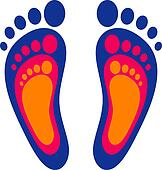 Symbol of the family: three footpri