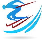 Ski icon / logo