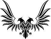 Double headed eagle 2 vector