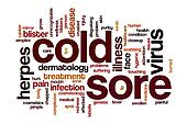Cold sore word cloud