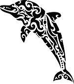 Dolphin tribal tattoo