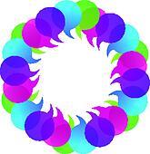 Speech bubbles as a flower logo