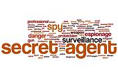 Secret agent word cloud