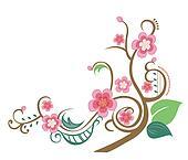 sakura and tree