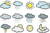 Cartoon weather icons.