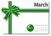March of 2014 calendar