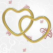 Wedding Rings Indicates Valentine's Day And Couple