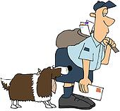 Dog Biting A Mailman