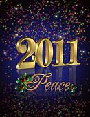 2011 peace New Year background