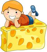 Boy on Cheese
