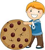 Boy with Chocolate Cip Cookies