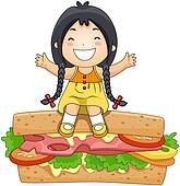 Girl on Sandwich