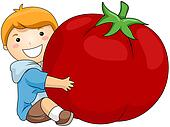 Boy with Tomato