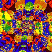 Abstract colorful spiral fractal.
