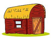 Wooden Barn house.