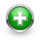 pharmacy green glossy web icon