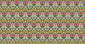 fantasy roses pattern in pastels