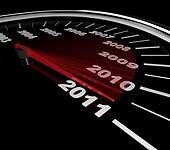 2011 - Speedometer Reaching New Year