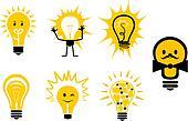 Light bulbs symbols