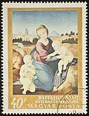 Raphael Madonna Esterhazy stamp