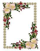 Wedding invitation elegant floral