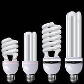 Energy saving lamp black