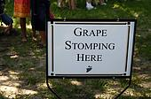 Grape Stomping Sign
