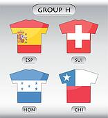 countries icons, group H