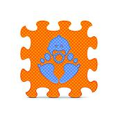 Vector baby sign made with puzzle