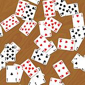 Playing cards on deck seamless generated hires texture