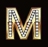 Bling M letter