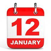 Calendar. 12 January.