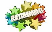 Retirement Farewell Going Away Employment Ending 3d Stars Words