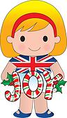 British/English Christmas Girl