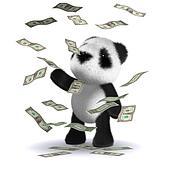 3d Baby panda bear wins loads of money