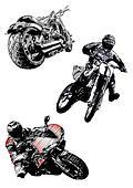 motorcycles trio