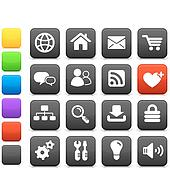 internet design icon set