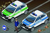 Isometric German Police Car
