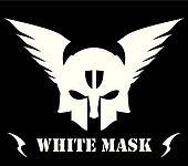 winged white skull mask