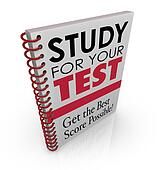Study for Your Test Book Cover Title Best Grade Score Quiz Exam